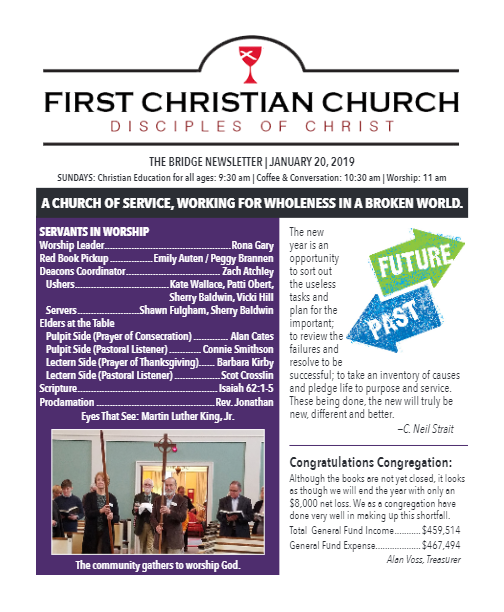 Newsletter Archives - First Christian Church in Chattanooga
